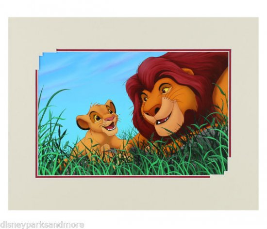 Disney Parks The Lion King: Father and Son Deluxe Print by Alex Maher