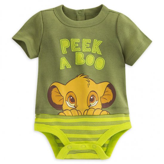Disney Store Lion King Simba Baby Bodysuit Outfit Boys Size 6 9 12 18 24 Months