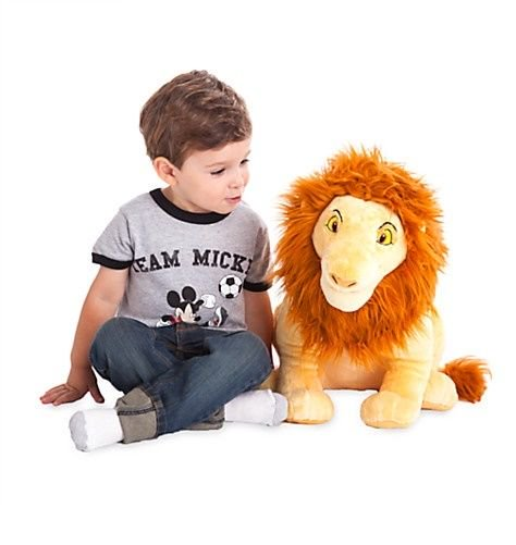 "Disney Store Authentic Lion King Simba BIG Jumbo Plush 18"" Stuffed Animal Toy"