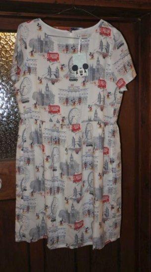 キャスキッドソン Cath Kidston ミッキーマウス イン ロンドン ドレス 12サイズ