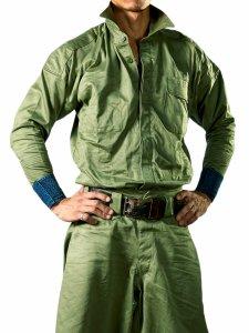 【丸源】 手甲シャツ 8000番 カーキグリーン