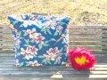 【50cmX48cmX25cm】◆ドデカ!バッグレザー持ち手(レトロハイビスカス)フラダンス★レッスンやホイケに大きなバッグ