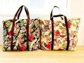 【50X48X25cm】◆ドデカ!バッグ(カラフルハワイアン)フラダンスレッスンに大きなバッグ