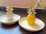 パイナップルがかわいいアクセサリー置きトリンケットディッシュ(パイナップル)