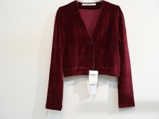 <img class='new_mark_img1' src='https://img.shop-pro.jp/img/new/icons20.gif' style='border:none;display:inline;margin:0px;padding:0px;width:auto;' />JOHN LAWRENCE SULLIVAN WOMEN/VELVET JERSEY SHORT CARDIGAN