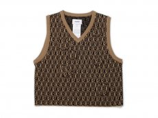 doublet / MONOGRAM JQ KINT VEST<img class='new_mark_img2' src='https://img.shop-pro.jp/img/new/icons47.gif' style='border:none;display:inline;margin:0px;padding:0px;width:auto;' />