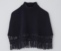 <img class='new_mark_img1' src='https://img.shop-pro.jp/img/new/icons14.gif' style='border:none;display:inline;margin:0px;padding:0px;width:auto;' />TAN / TAPE FRINGE SQUARE PONCHO
