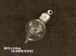 小さなぷっくりしずく型ガラス瓶 ふた付き 12mm×24mm