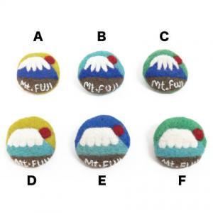 メダル富士山ブローチ