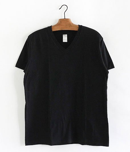 JIGSAW SUPIMA COTTON S/S V NECK T-SHIRT [BLACK]