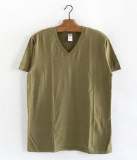 JIGSAW SUPIMA COTTON S/S V NECK T-SHIRT [OLIVE MOCHA]