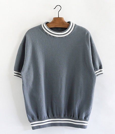 ANACHRONORM Fleece Crew Neck S/S Sweatshirt [BLUE GRAY]