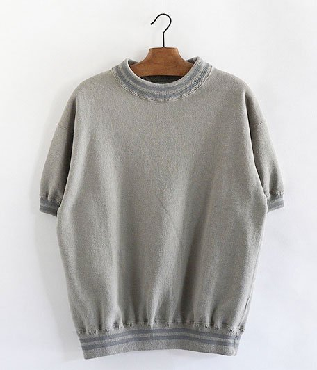 ANACHRONORM Fleece Crew Neck S/S Sweatshirt [GRAY BEIGE]