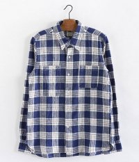 THE SUPERIOR LABOR Glasses Pocket Shirt [blue check]