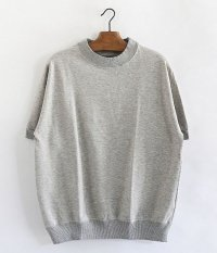 ANACHRONORM Pima Cotton Fleece Crew Neck S/S Sweatshirt [GRAY TOP]