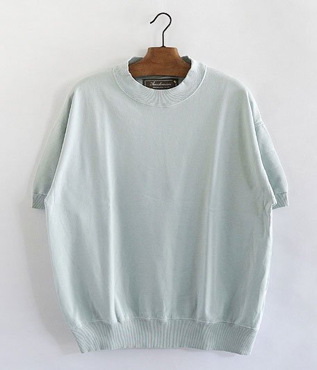 ANACHRONORM Pima Cotton Fleece Crew Neck S/S Sweatshirt [TIFFANY BLUE]