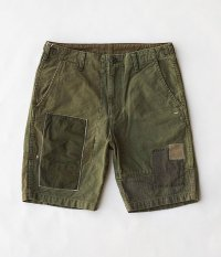 H.UNIT STORE LABEL Military Crazy Shorts [ARMY KHAKI]