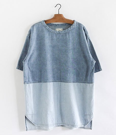 VOO 2 TONE DENIM TEE [DARK×LIGHT]