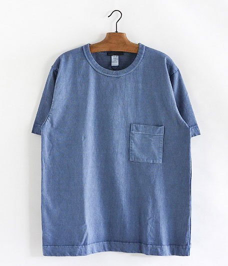 JIGSAW PIGMENT DYE BIG T-SHIRT [BLUE]