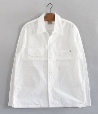 ANACHRONORM Broad Open Collar Shirt [WHITE]