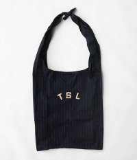 THE SUPERIOR LABOR Tie Shoulder Bag [navy stripe]