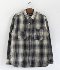 ANACHRONORM Ombre Plaid Work Shirt [IVORY��NAVY]