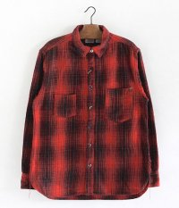 ANACHRONORM Ombre Plaid Work Shirt [RED��BLACK]