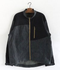 ANACHRONORM Two Way Stretch Jacket [INDIGO×BLACK]