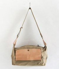 THE SUPERIOR LABOR Paraffin Canvas Shoulder Bag S [beige]