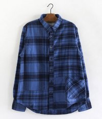 H.UNIT STORE LABEL Indigo Check Switching Shirt [INDIGO]