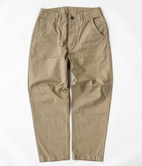 ANACHRONORM Chino Tapered Trousers [BEIGE]