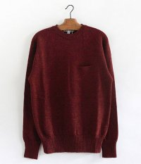 NECESSARY or UNNECESSARY THREE DIMENTIONAL KNIT [RED]