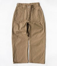 ANACHRONORM Organic Chino A/N Trousers [BEIGE]