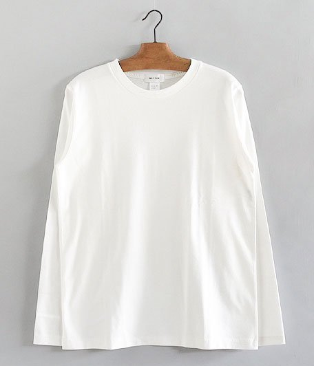BETTER CREW NECK L/S T-SHIRT [OFF WHITE]