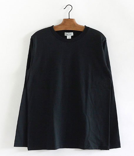 BETTER CREW NECK L/S T-SHIRT [BLACK]