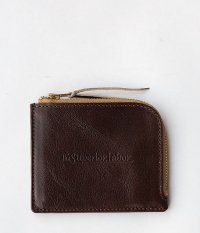 THE SUPERIOR LABOR Zip Half Wallet [brown]