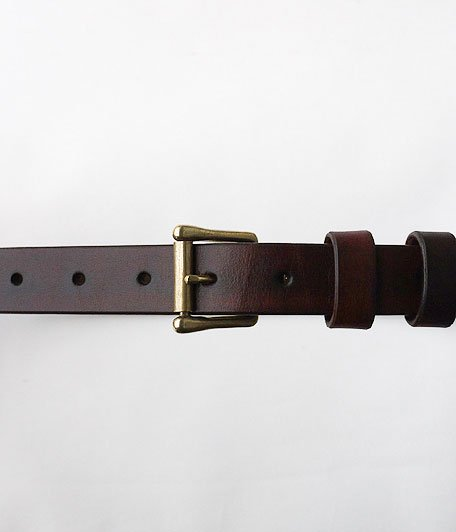 THE SUPERIOR LABOR Hand Dye Narrow Belt [brown]