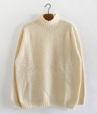 HARLEY OF SCOTLAND HIGH NECK SWEATER [CREAM]
