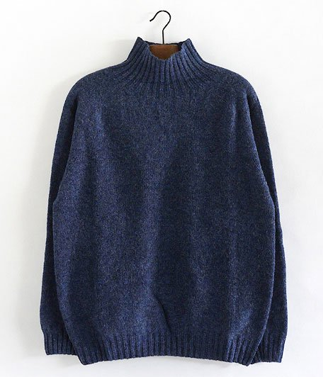 HARLEY OF SCOTLAND HIGH NECK SWEATER [DENIM]