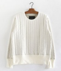 ANACHRONORM Quilted L/S Crew Neck [IVORY]