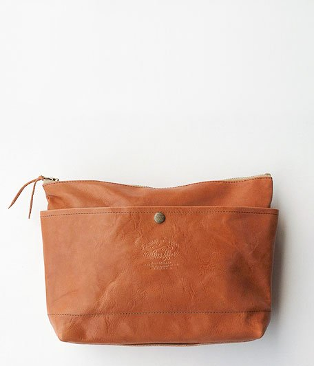 THE SUPERIOR LABOR Leather Clutch Bag L [light brown]