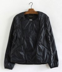 ANACHRONORM Quilted Ripstop Nylon Riders Jacket [BLACK]