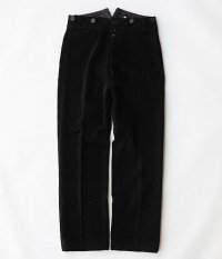 ANACHRONORM Wide Wale Corduroy Wide Trousers [BLACK]
