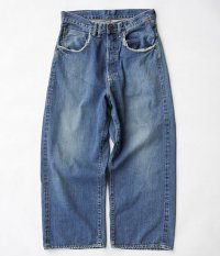 ANACHRONORM Washed Denim Baggy Jean [INDIGO]