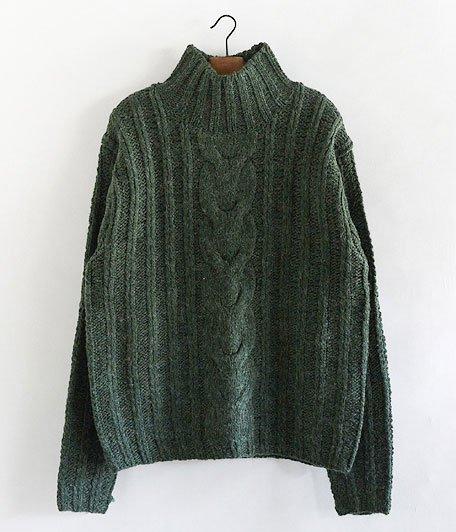 ANACHRONORM Rib Highneck Sweater [GREEN]