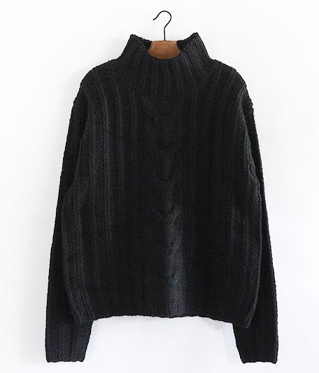ANACHRONORM Rib Highneck Sweater [BLACK]