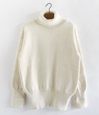 RICHMOND KNITWEAR Submarine Roll Neck Sweater [ECRU]