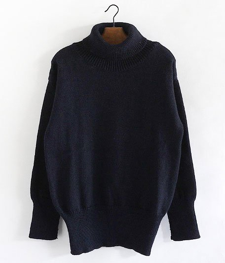 RICHMOND KNITWEAR Submarine Roll Neck Sweater [NAVY]