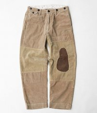 H.UNIT STORE LABEL 9w Corduroy wide trousers Customized [BEIGE]