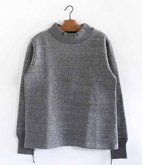 ANACHRONORM Double Face Mocneck Under-Shirt [CHARCOAL TOP]